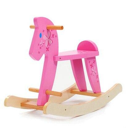 Дети просто деревянная лошадка-качалка кресло-качалка деревянная качалка лошадка детские игрушки