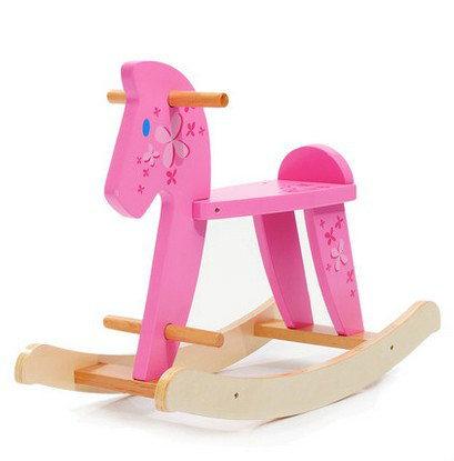 Children simple rocking horse wooden rocking chair wooden rocking chair rocking horse baby toy