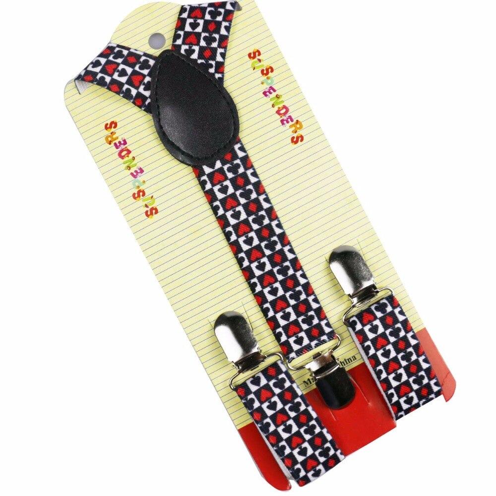 Winfox Adjustable Children Girls Boys Suspender Y-Back Braces Kid Suspender Party