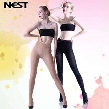 NEXT Women Tights Fashion Black Skin Long High-quality Anti-knife Pantyhose Thin Fat Elastic LEOHEX