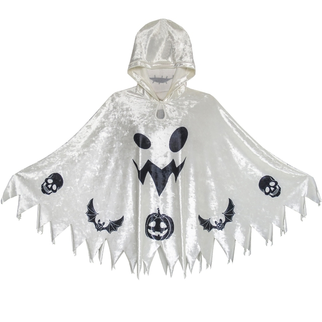 fa195dc09a7a Halloween Witch Cape Velvet Hooded Cloak Costumes Wizard Cosplay 2019  Summer Princess Wedding Party Dresses Kids Clothes Pageant