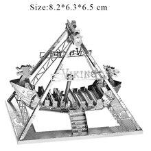 Творческий 3D металлические головоломки модель Викинг корабль развивающие игрушечный конструктор для взрослых и детей Рождественский подарок УМН