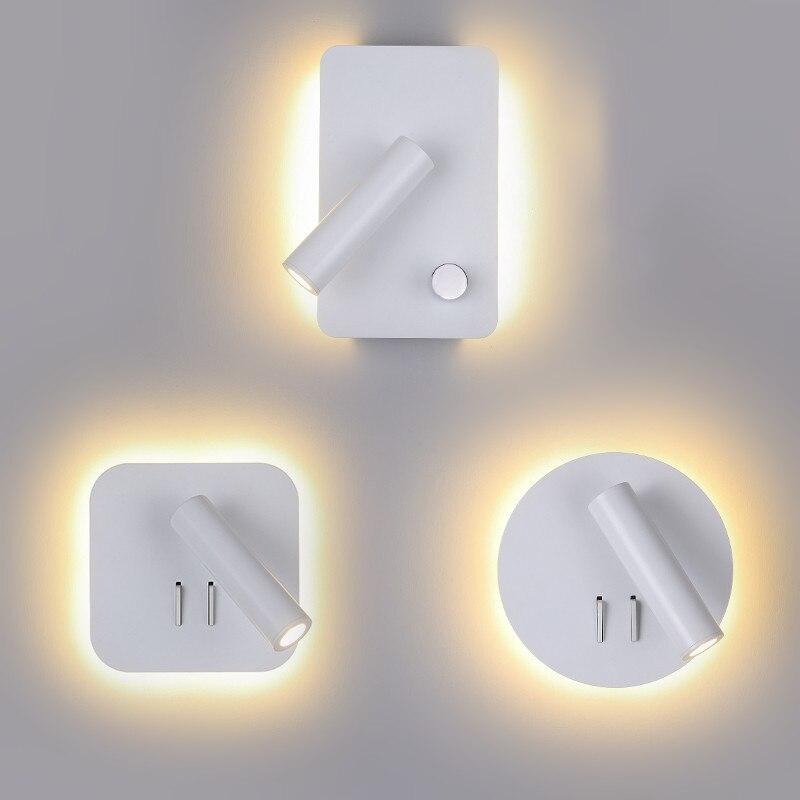 Qyartistry творческий светодиодный настенный светильник Современный Спальня ночники Настенные светильники садовые фонари для Гостиная коридо...