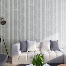 Las 3d mural ściany brzoza drzewo wzór lasu wall paper rolka Nowoczesne Proste Tapety Projektowania Czarny Biały Szary Papel De Parede