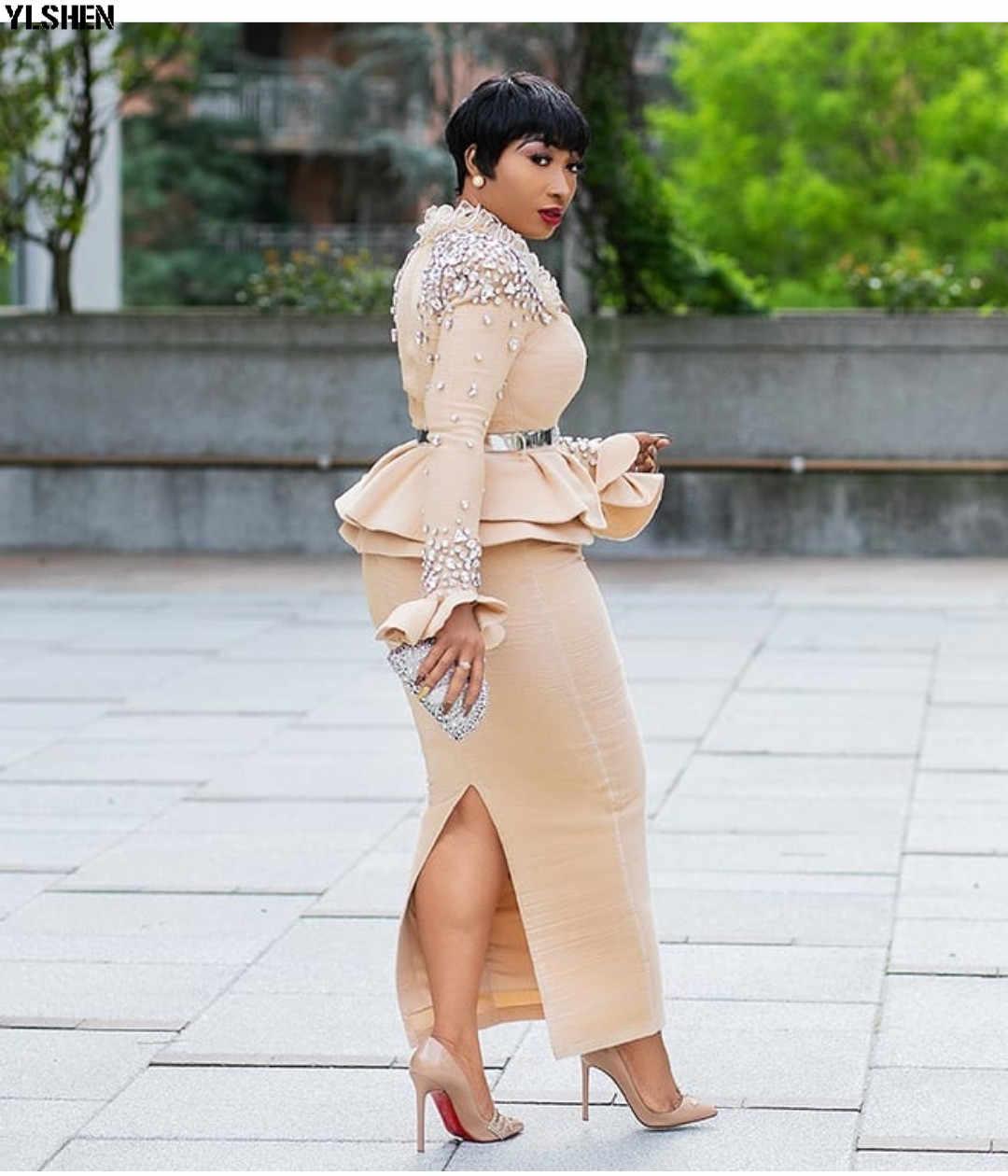 Länge 150cm Afrikanische Kleider für Frauen Dashiki Nagel Bead Afrikanischen Kleidung Raum Schicht Afrikanischen Kleid Rock Langarm Afrika kleid