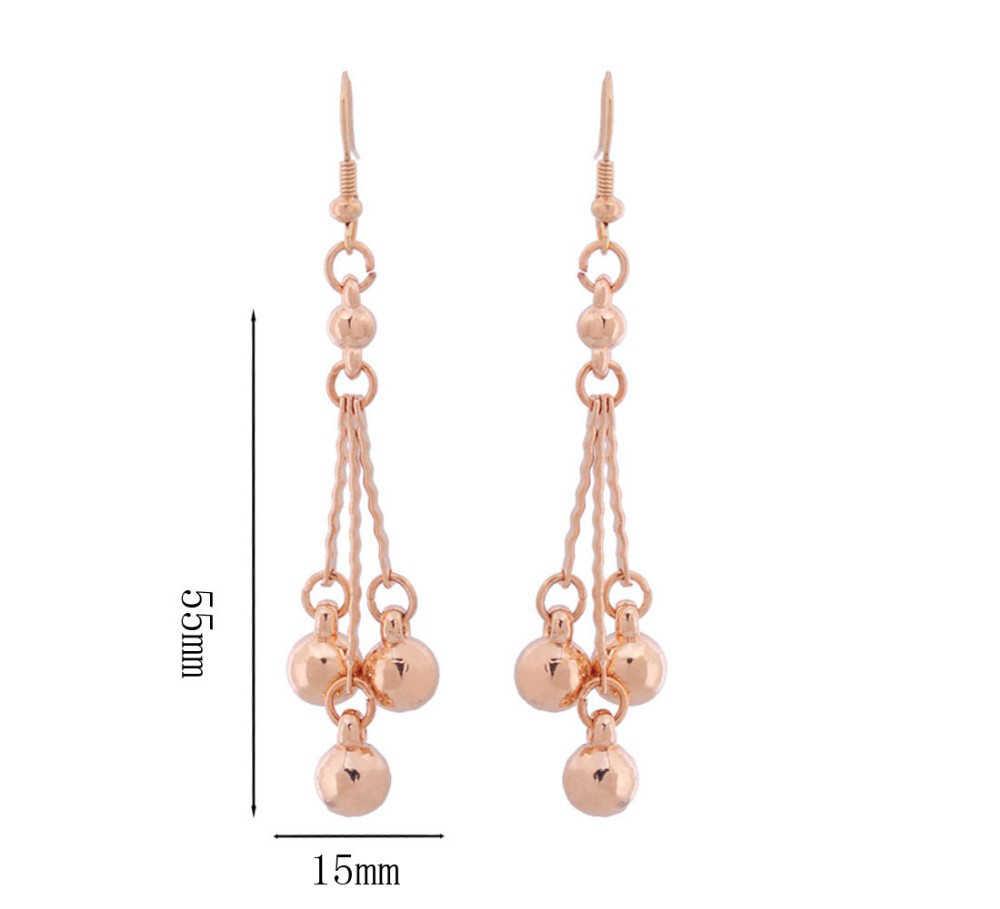 2018 mode Afrikanischen Perlen Schmuck Sets Für Frauen Hochzeit Zubehör Gold Farbe Quaste Anhänger Halskette Ohrringe Schmuck Sets