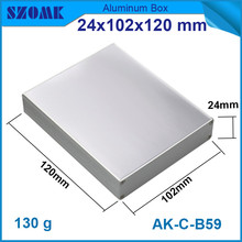1 piece szomk electronic aluminum housing metal enclosure for GPS tracker with smooth 24*102*120mm