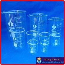 Verre Bécher 5 Pcs Ensemble 50, 100, 150, 200, 250 ml Forme Basse Marque Neuf de Haute Qualité