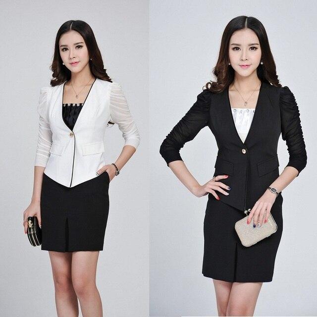 2015 verano mujer oficina falda traje de dos piezas faldas