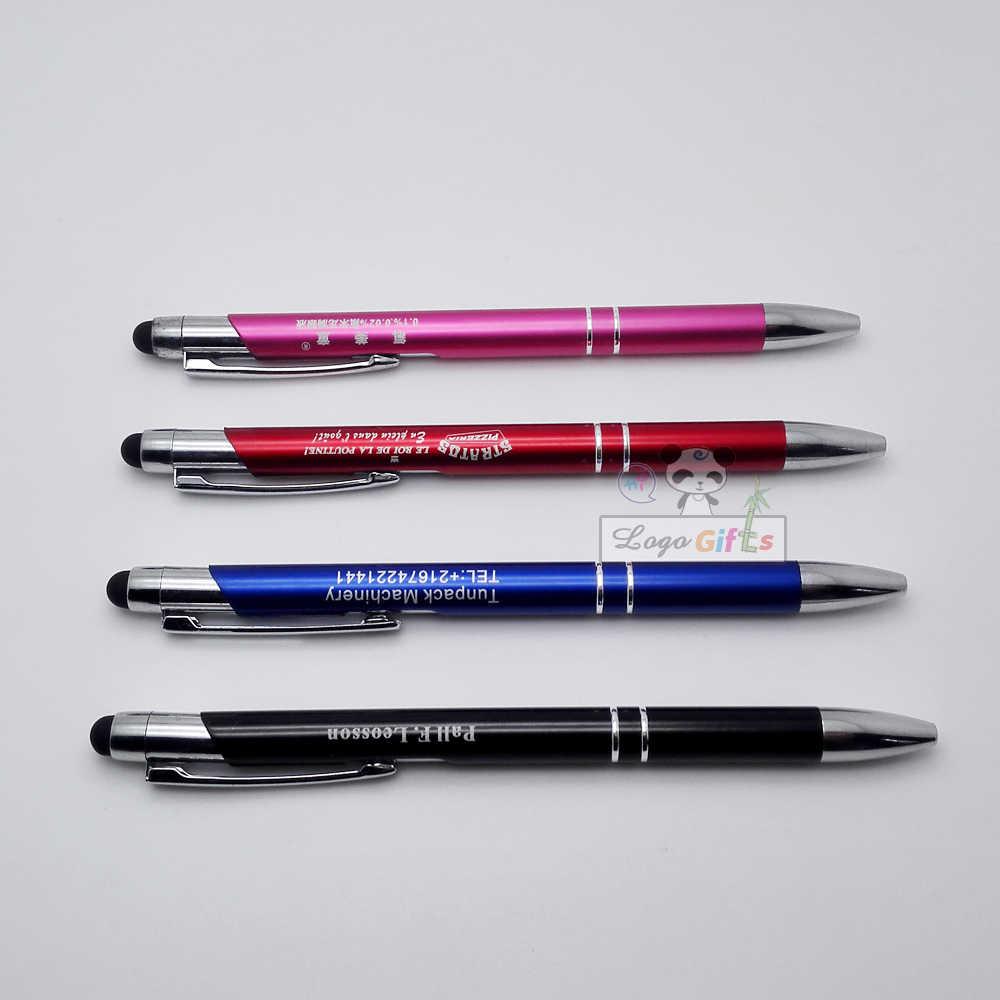 2 في 1 المعادن الصغيرة بالسعة أقراص عالمية قلم للكتابة على الشاشة التي تعمل باللمس الكرة القلم للكمبيوتر المحمول هاتف ذكي المدمج في حبر جاف 30 قطعة مجموعة