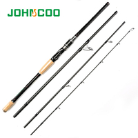 Spinning Rod 2.1m 2.4m 2.7m 3m Carbon Fishing Rod 4 Sections Travel Rod Casting Rod Medium Fast Action 10 25g Super light weight