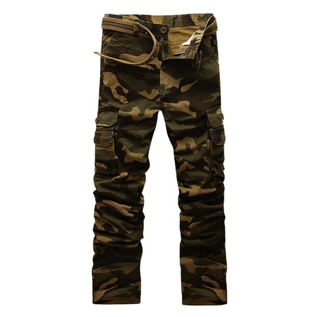 Men's Military Clothing LOADS PANTS Overalls TACTICAL KNIGHTS MILITARY KNIFE Male Casual Camo Combat Style Army Camouflage Pants