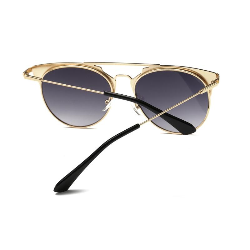 Retro Round Cat Eye Sunglasses Men Women Designer Eyewear Metal Frame UV400 Sun Glasses Female Oculos De Sol Lunette De Soleil 2
