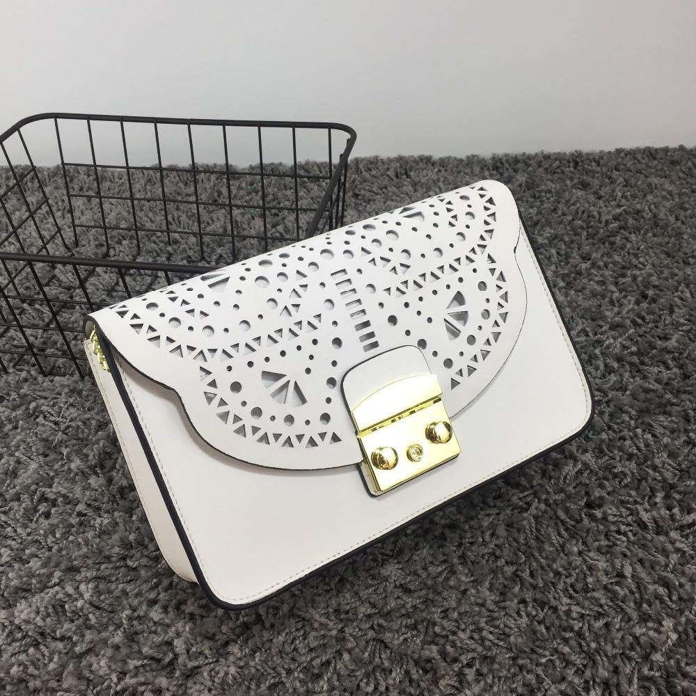 2017 Fashion Women genuine Leather Messenger Bag Mini Flap crossbody Bags Ladies Small clutches female chain bag Girls bolsa