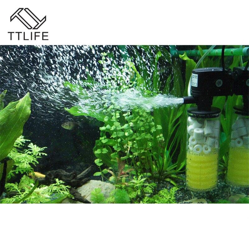 TTLIFE High Power Air Pump,Submersible Compressor for Aquarium+Super Biological Aquarium Internal Filter Pump Fish Tank