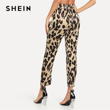 FREE SHIPPING !! Pocket Patched Drawstring Leopard Pants JKP801