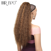 Hair Expo City 24 110g Kinky Straight Clip In Extension Drawstring Ponytail Combs Synthetic Long For African Women