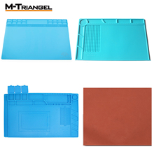 M-Triangle Solder Mat Heat Insulation Silicone Repair Premium Magnetic with Scale Ruler and Screw Position Phone Desk