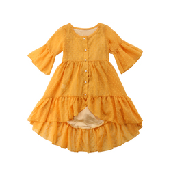 Bohemian Long Ruffle Baby Girl Princess Dress New Toddler Kids Party Prom Beach Dress 1 2 3 4 5 Years