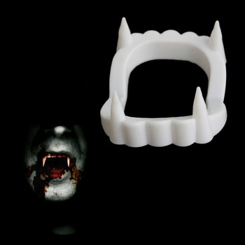 Scary Vampire Outfit Dracula Teeth Halloween Monster Werewolf Zombie Fangs Halloween Party image