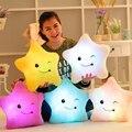 Star shape Luminous pillow Christmas Toys Led Light Pillow plush toy Colorful Starskids Toys Birthday Gift