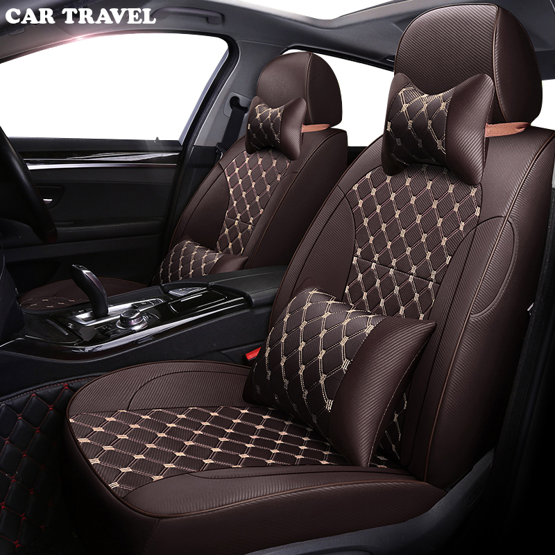 CAR TRAVEL Custom Cloth Car Seat Cover For PEUGEOT 407 308SW 607 307CC 3008 307SW 4008 Automobiles Seat Covers Car Seats