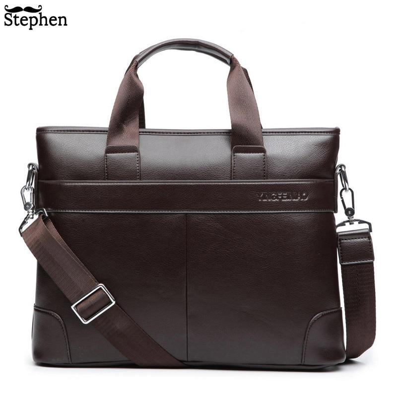 Dress Men's Shoulder Bag Men Briefcase Pu Leather Business Casual Tote Bags Vintage Travel Laptop Handbag Men's Messenger Bags