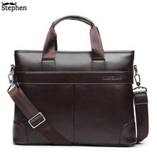 цена на Dress Men's Shoulder Bag Men Briefcase Pu Leather Business Casual Tote Bags Vintage Travel Laptop Handbag Men's Messenger Bags