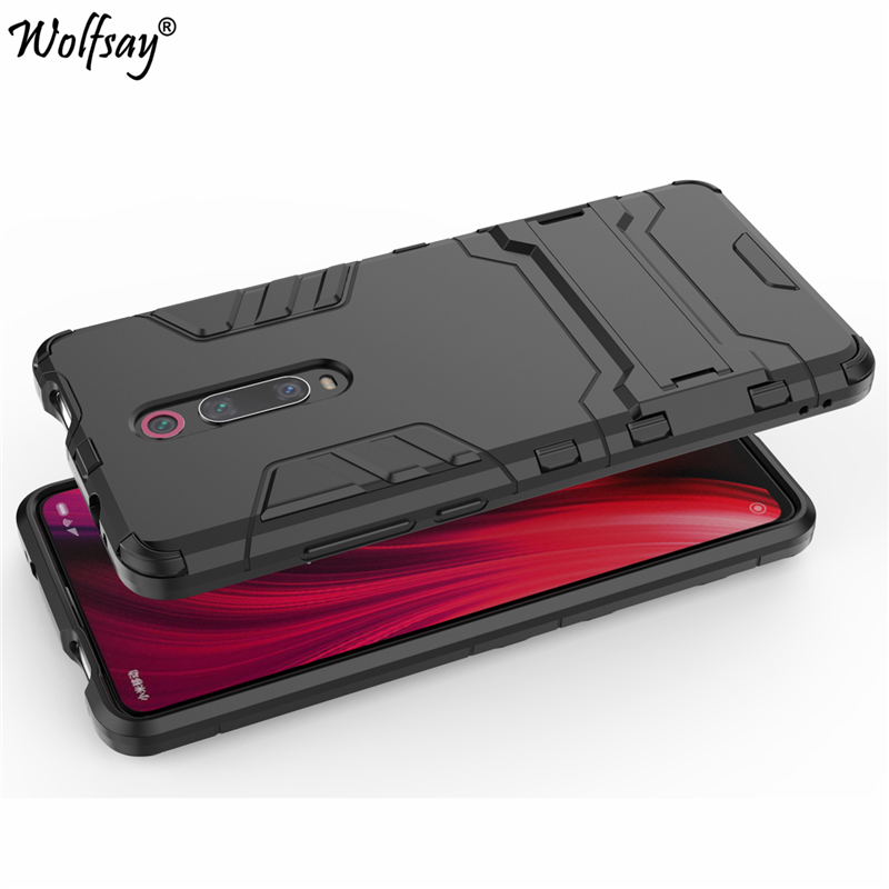 Cover Xiaomi Mi 9T Case 6 39 quot Shockproof Hybrid Stand Silicone Armor Back Case For Xiaomi Mi 9T Cover Case on Xiaomi Mi9T Mi 9 T in Fitted Cases from Cellphones amp Telecommunications