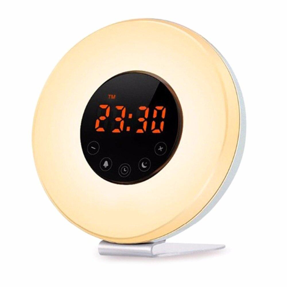 Amteker Wake Up Light Alarm Clock With Sunrise Simulation And Fm Radio Sound