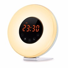 купить Amteker Wake-Up Light Alarm Clock With Sunrise Simulation And FM Radio Sound дешево