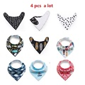 20 styles 4pcs a lot brand fashion baby bib saliva towel arrow pink fox deer feather cotton deer baby born  triangle burp