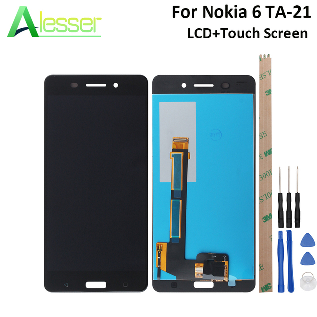 Alesser עבור Nokia 6 LCD TA-1021 TA-1033 TA-1025 תצוגת מסך מגע מסך Digitizer עצרת Replacemen + כלים + דבק