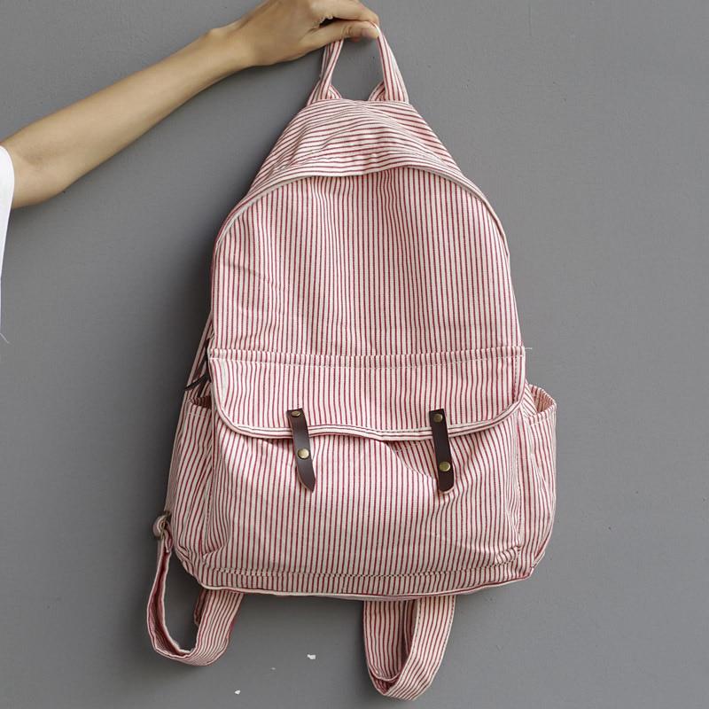 Simple stripe backpack schoolbag women school backpack bags canvas backpack teenage backpacks for girls mochilaSimple stripe backpack schoolbag women school backpack bags canvas backpack teenage backpacks for girls mochila