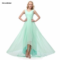 Cheap V neck long mint green bridesmaid dresses $50USD DHL free shipping ready to ship royal pink lilac red 8 colors size 2 22W