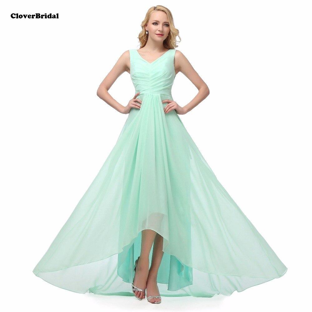 Pas cher col en V longue menthe vert robes de demoiselle d'honneur 50 $ USD DHL livraison gratuite prêt à expédier royal rose lilas rouge 8 couleurs taille 2-22 W