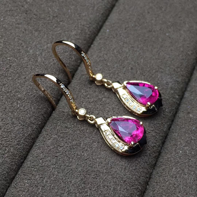 factory wholesale SGARIT brand new fashion 18k real gold Amethyst natural gemstone Imbue Diamond stud earrings jewelry 4