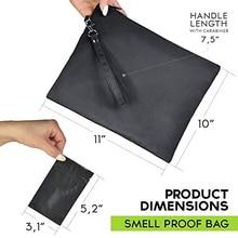 18x15.5cm Odor Proof Bag Food Polyester Multi-Functional Fabric Zipper Organizer Storage Herbs