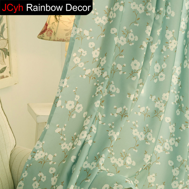 Blackout Curtains For Bedroom Korean Panel Window Door Curtain Fabric Drapes Floral Cortinas Sheer Kitchen