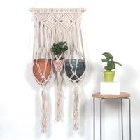 Bohemian Macrame Tapestry Knitted Handmade Hanging Basket mandala Tapestry Wedding Wall Mandalas With Tassel arazzo da parete