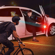 2X Universal Car LED Opening Door Safety Warning Anti collision Lights Flash Light Red Kit Wireless Alarm Lamp Signal Light