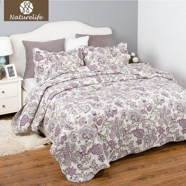 lightweight king bedspread chenille bedspread naturelife plaid quilt coverlet set bedspread pcs luxury pastoral floral pattern lightweight warm