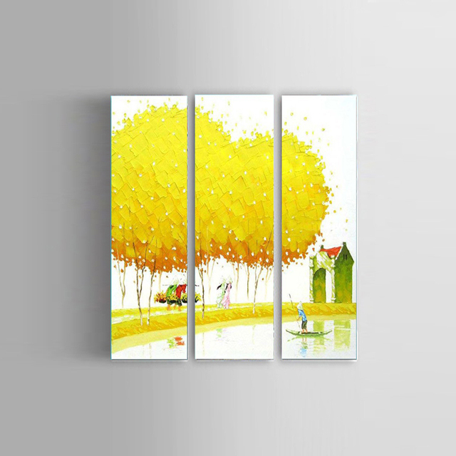 Hand Painted Palette Knife Vietnam scenery Oil Painting Canvas Wall ...