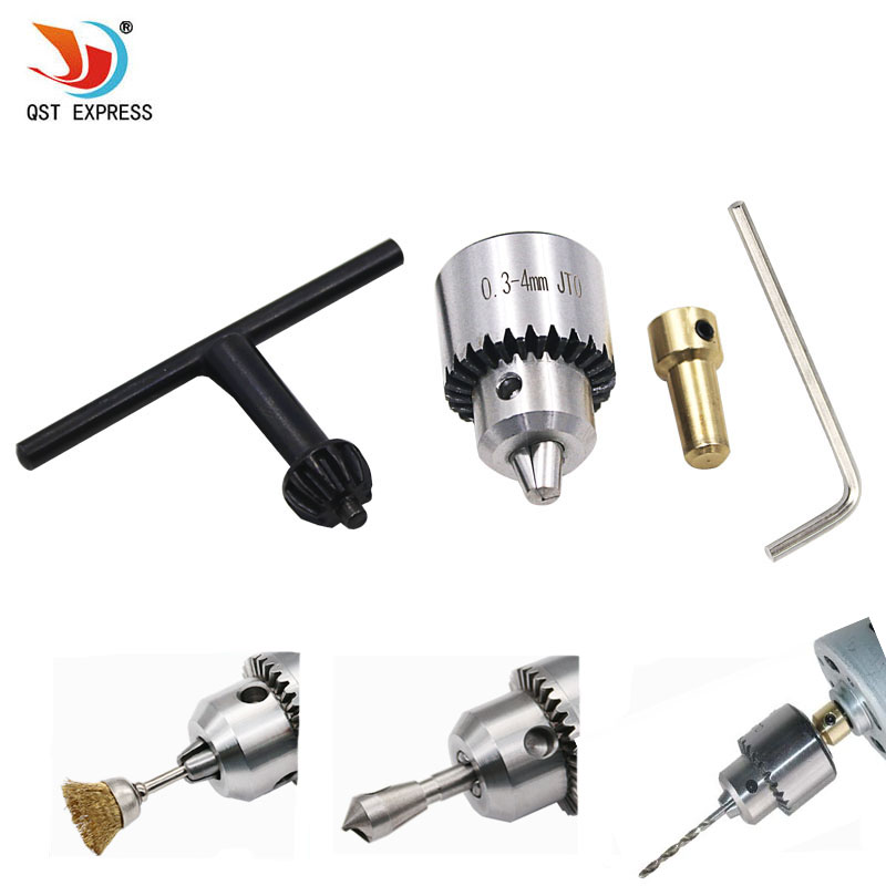 Hot Electric Drill Grinding Mini Drill Chuck Key Keyless Drill Chucks 0.3-4mm Capacity Range W/ 3.17mm Shaft Connecting Rod