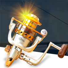 YUMOSHI Spinning Fishing Reel Metal Wheel Sea Fishing 12BB Metal Coil Spinning Reel Boat Rock Fishing EF1000-9000 Reel for Carp yumoshi sg5000a fishing spinning reel silver size m