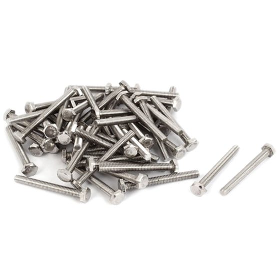 New Style <font><b>M5</b></font> Stainless Steel Hexagon Head Fully Threaded Set Screws,<font><b>M5</b></font>*<font><b>40mm</b></font> 50PCS image