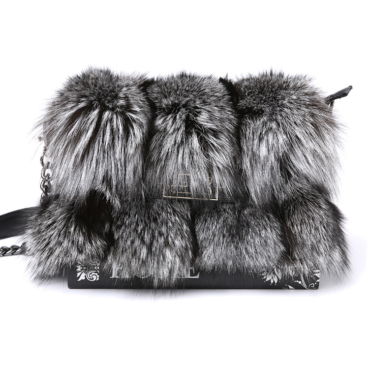 Leather fur bag 2018 new fur bag real fox fur cowhide lady shoulder leather bag winter luxury genuine leather bags for women ellacey women bucket bags fox fur genuine leather handbags fur women bag socialite basket real leather small christmas tote bag