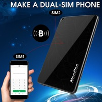 NEECOO Me2 Ultra-thin Bluetooth Dual Cards Dual Standby 4mm MoreCard APP Smart Micro For Nano SIM Card Adaptor For iPhone 6 7
