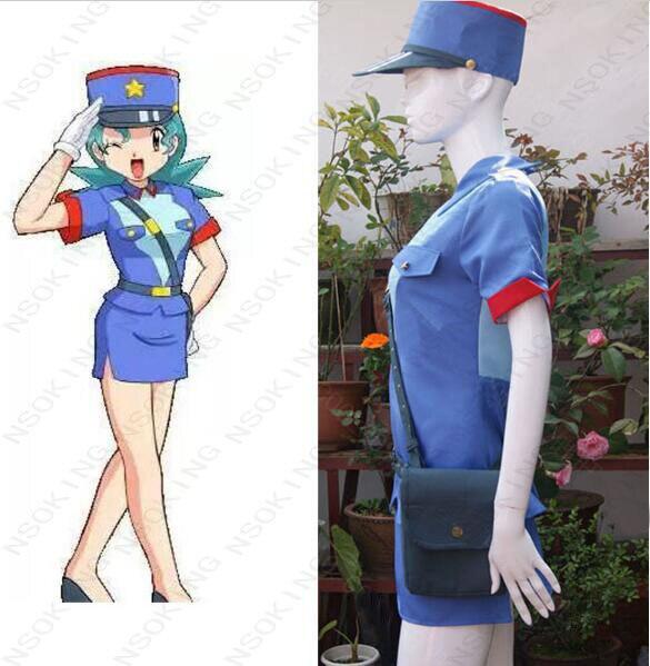 Anime Pokemon Officer Jenny Cosplay Costum custom made
