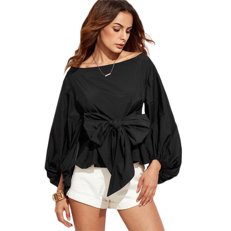 HTB1CTy0NVXXXXX9XXXXq6xXFXXXg - Shirts Women Tops Long Sleeve Lantern Sleeve Blouse